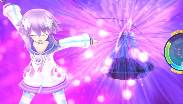 『超次元大戦 ネプテューヌVSセガ・ハード・ガールズ 夢の合体スペシャル』ゲーム画面