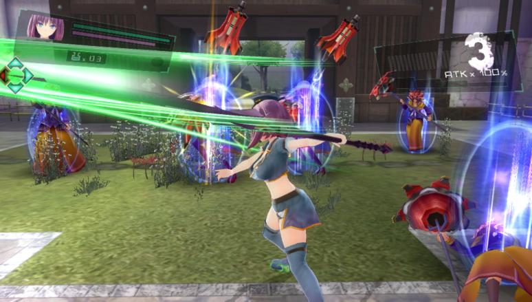 『VALKYRIE DRIVE -BHIKKHUNI- Bikini Party Edition』ゲーム画面