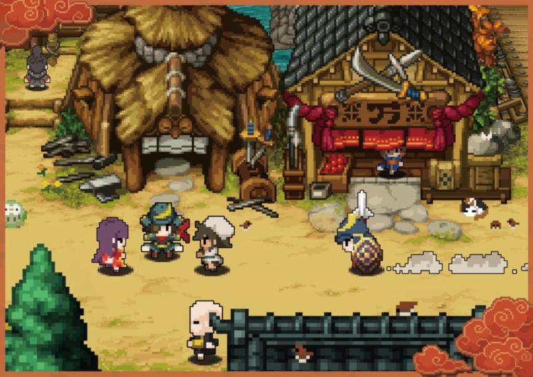 『クラシックダンジョン 戦国』ゲーム画面
