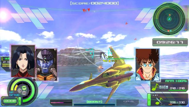 『マクロスΔスクランブル』ゲーム画面
